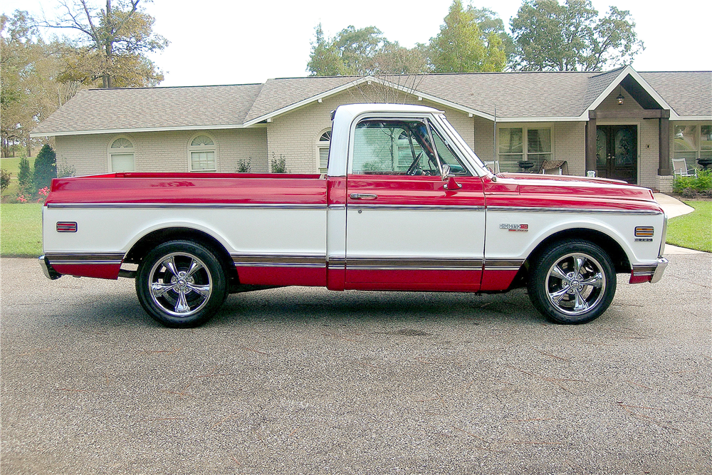 1972 CHEVROLET CHEYENNE SUPER 10 PICKUP - Side Profile - 189374