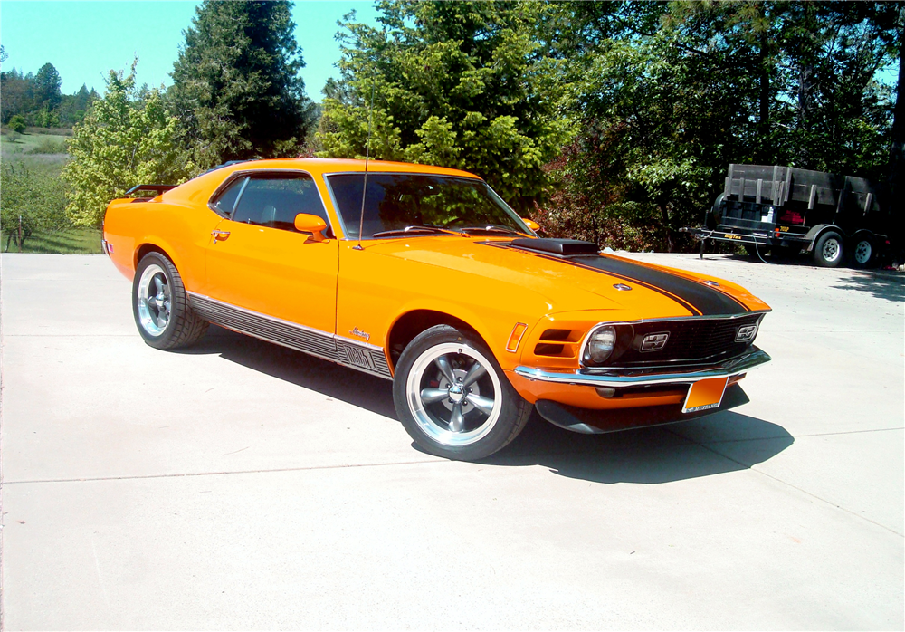 1970 FORD MUSTANG MACH 1 FASTBACK - Front 3/4 - 189375