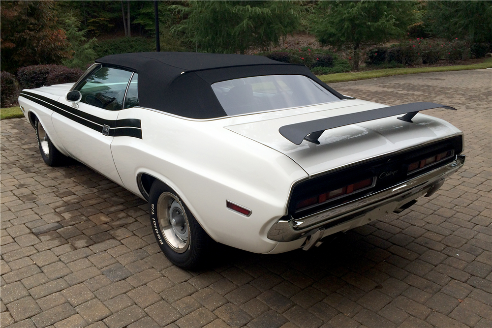 1971 DODGE CHALLENGER HEMI RE-CREATION CONVERTIBLE - Rear 3/4 - 189376
