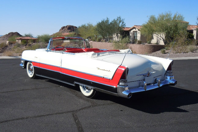 1955 PACKARD CARIBBEAN CONVERTIBLE - Rear 3/4 - 189381