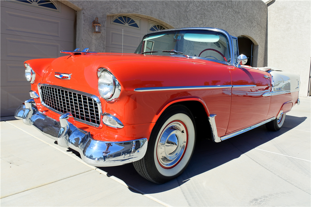 1955 CHEVROLET BEL AIR CONVERTIBLE - Front 3/4 - 189412