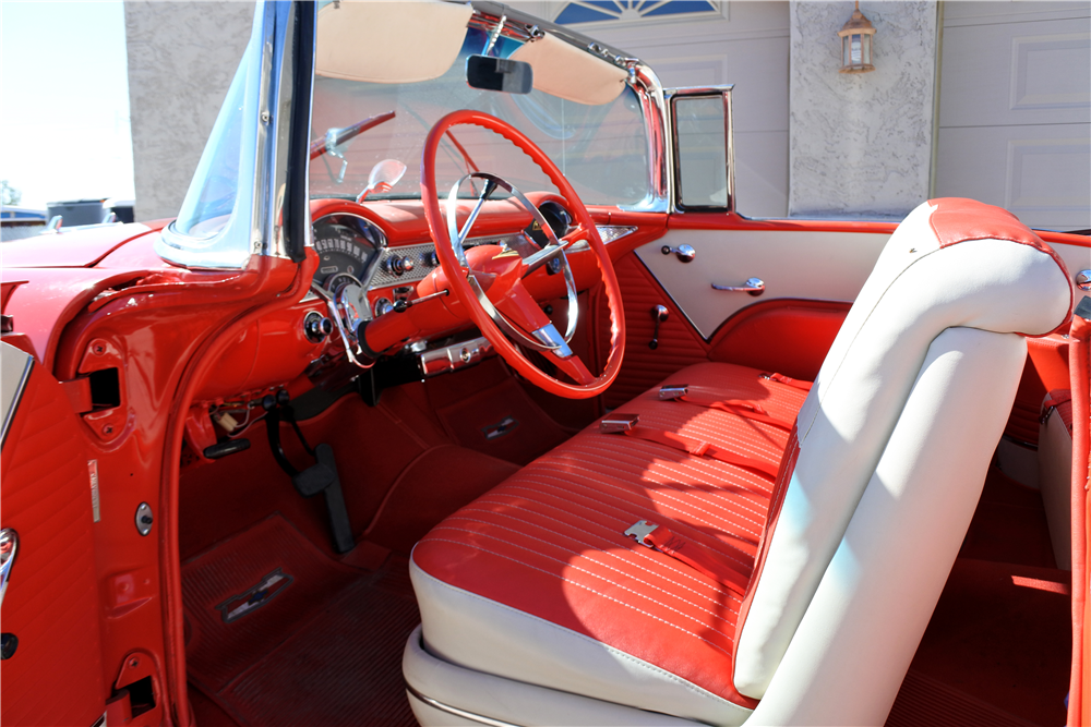 1955 CHEVROLET BEL AIR CONVERTIBLE - Interior - 189412