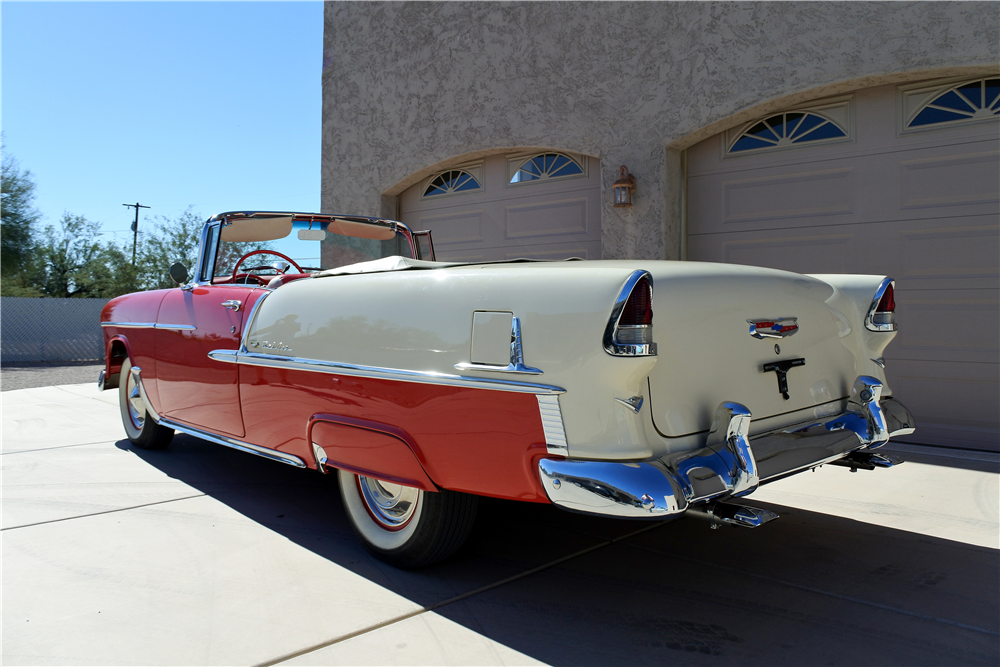 1955 CHEVROLET BEL AIR CONVERTIBLE - Rear 3/4 - 189412