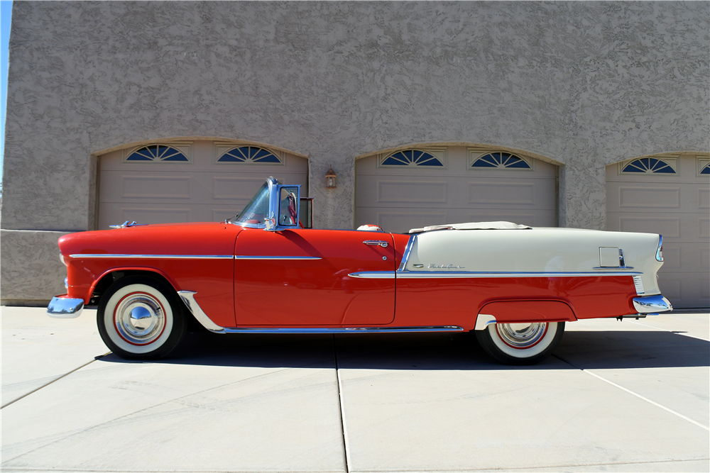 1955 CHEVROLET BEL AIR CONVERTIBLE - Side Profile - 189412