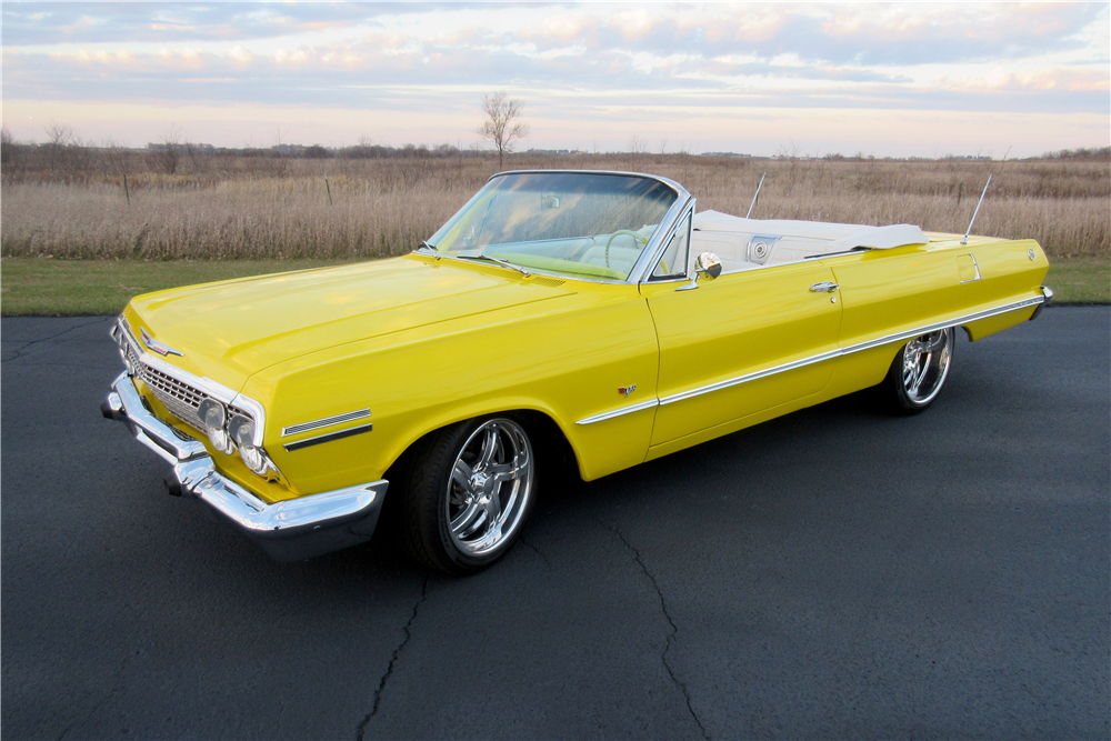 1963 CHEVROLET IMPALA SS CUSTOM CONVERTIBLE - Front 3/4 - 189425