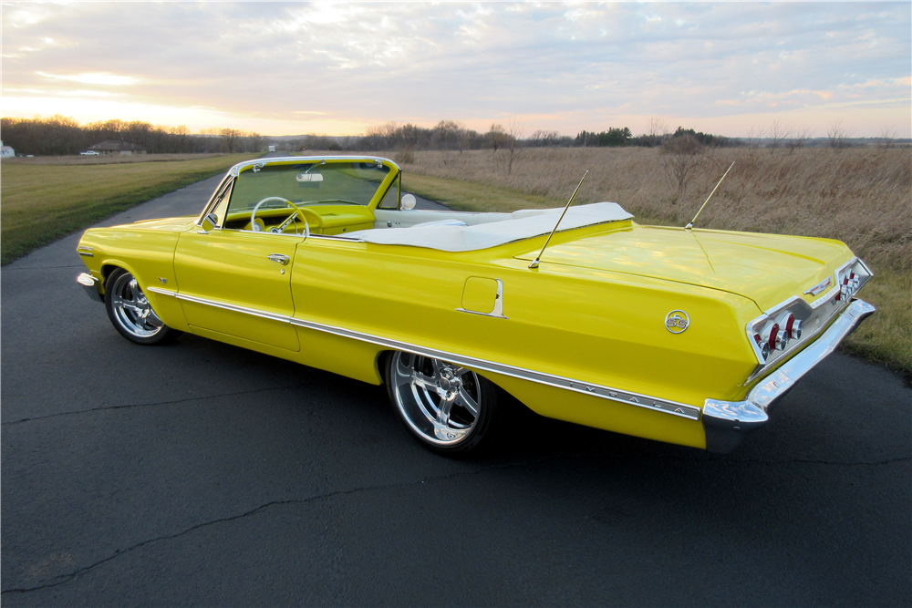 1963 CHEVROLET IMPALA SS CUSTOM CONVERTIBLE - Rear 3/4 - 189425