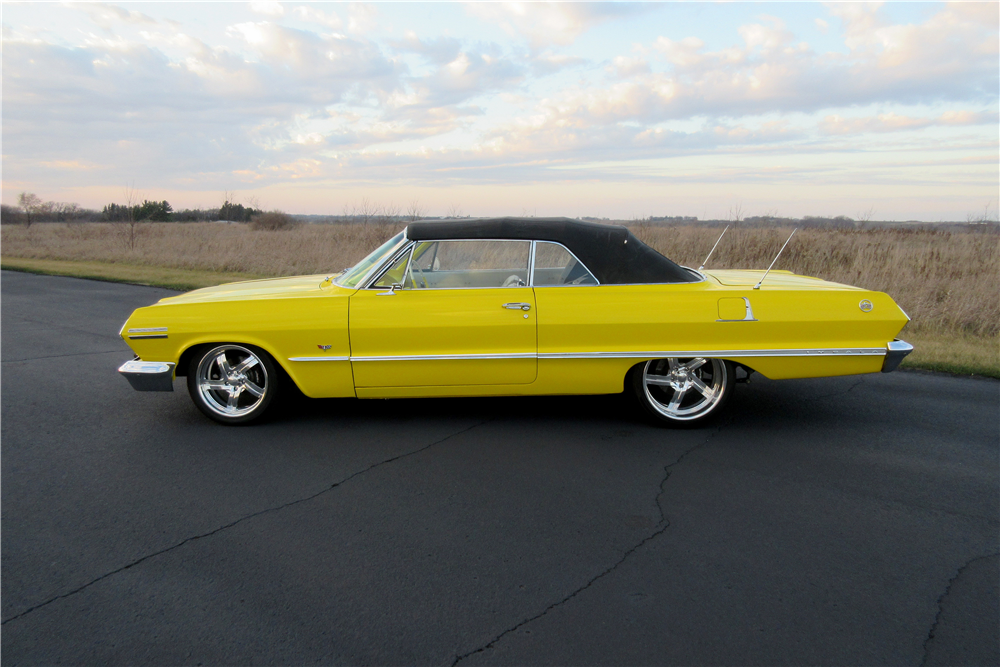 1963 CHEVROLET IMPALA SS CUSTOM CONVERTIBLE - Side Profile - 189425