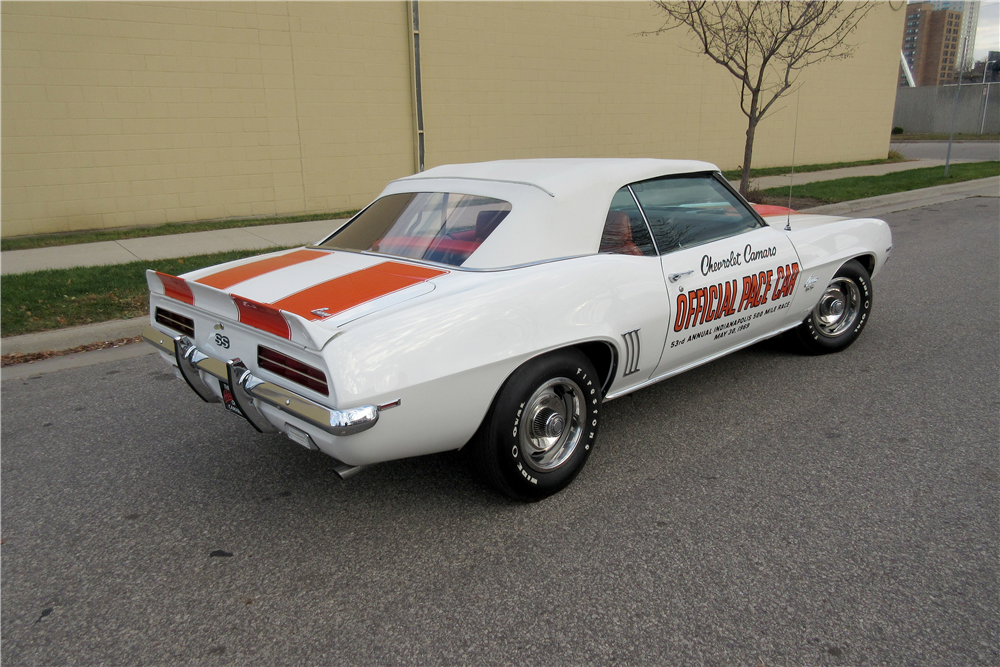 1969 chevrolet camaro rs ss indy pace car convertible 396 for Pace motor lines inc