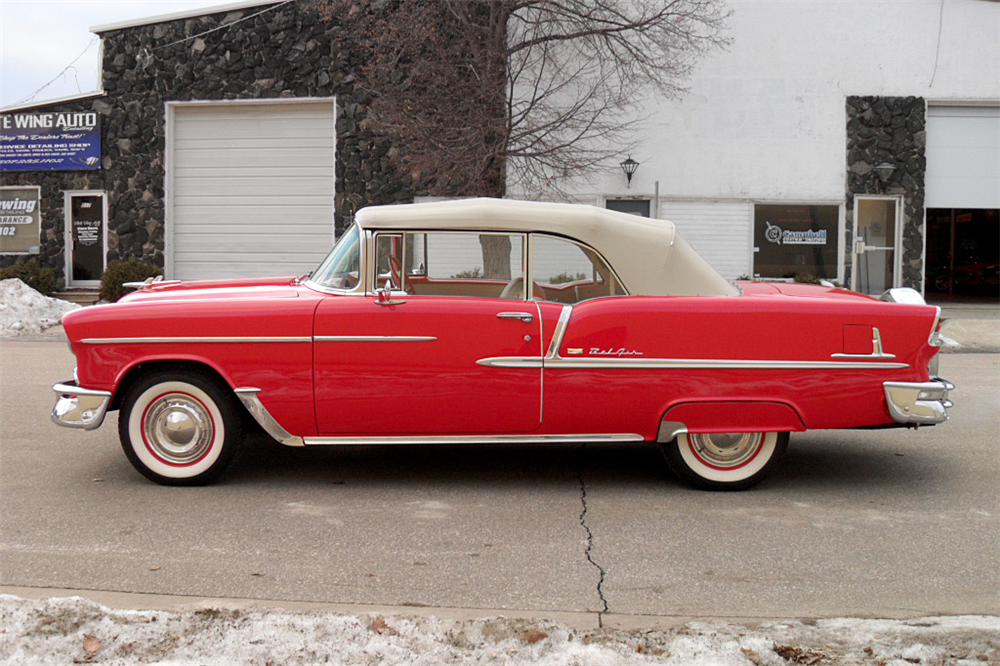 1955 CHEVROLET BEL AIR CONVERTIBLE - Side Profile - 189427