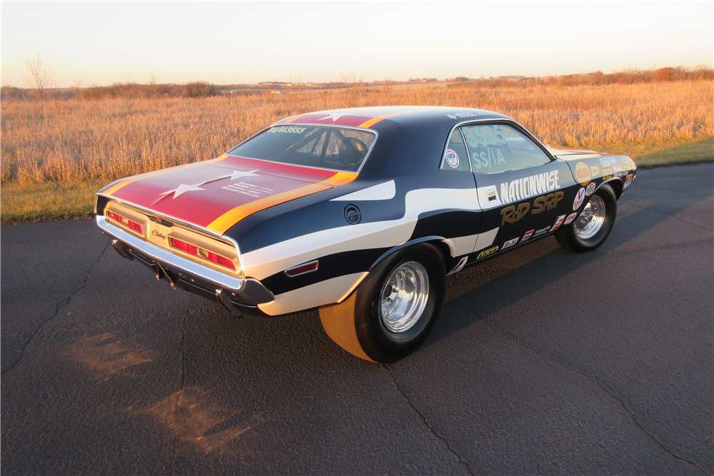 1971 DODGE CHALLENGER CUSTOM DRAG CAR - Rear 3/4 - 189428