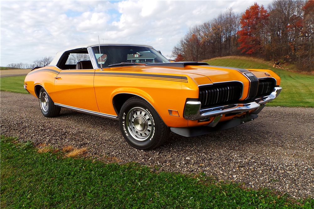 1970 MERCURY COUGAR XR7 CONVERTIBLE - Front 3/4 - 189460