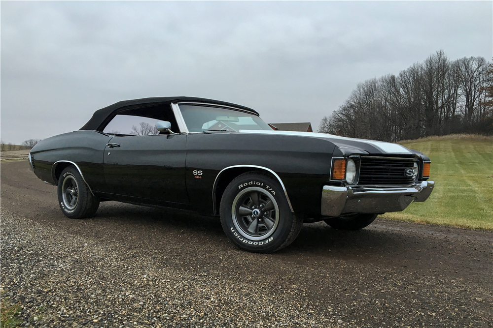 1972 CHEVROLET CHEVELLE SS 454 RECREATION CONVERTIBLE - Front 3/4 - 189462