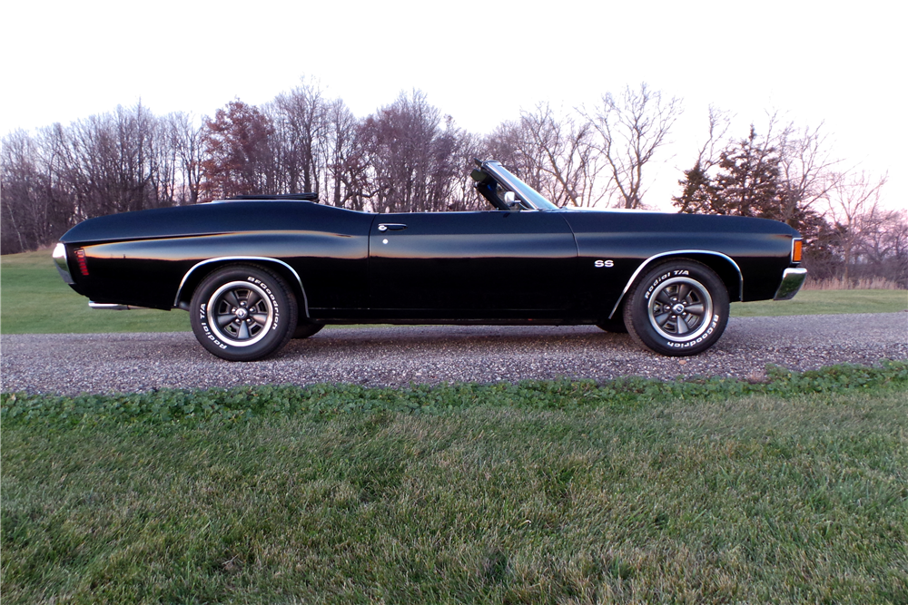 1972 CHEVROLET CHEVELLE SS 454 RECREATION CONVERTIBLE - Side Profile - 189462
