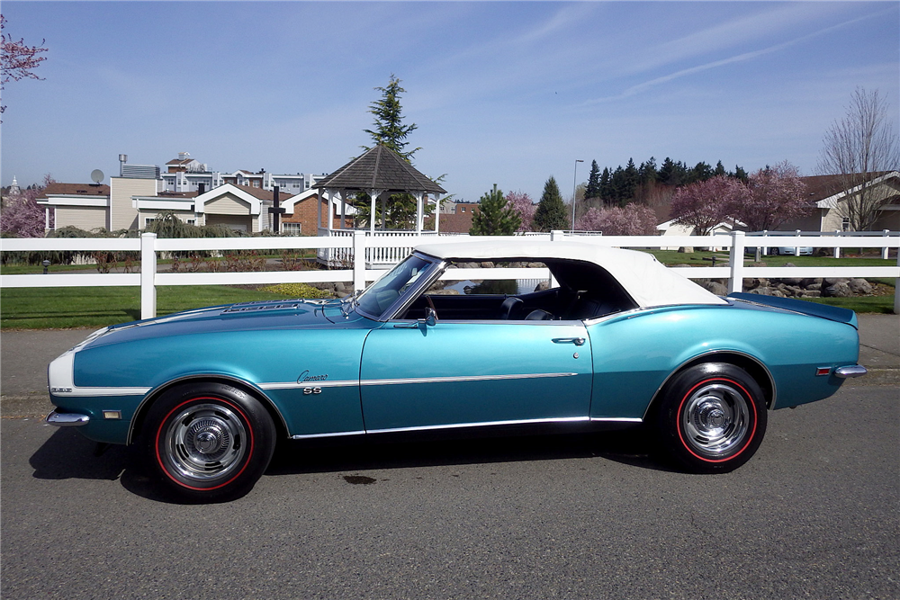 1968 CHEVROLET CAMARO RS/SS CONVERTIBLE - Side Profile - 189485