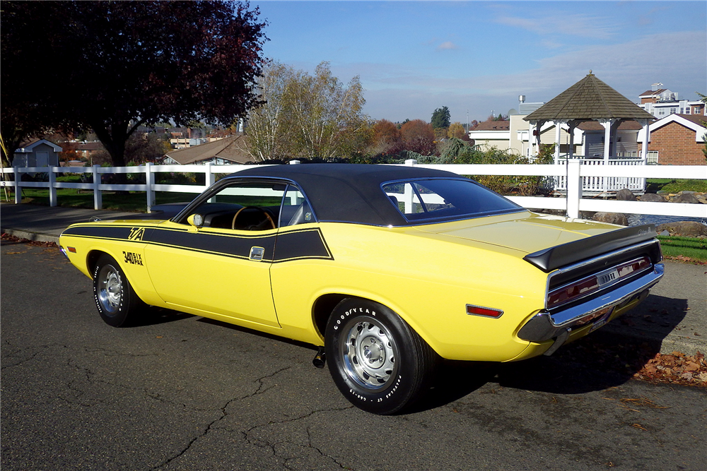 1970 DODGE CHALLENGER T/A  - Rear 3/4 - 189486