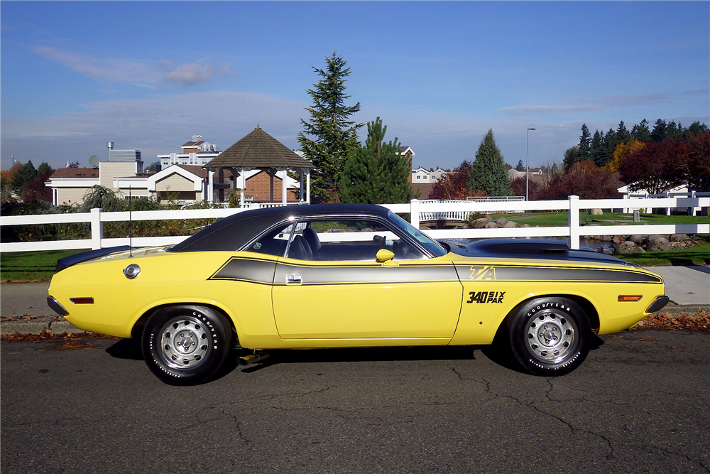 1970 DODGE CHALLENGER T/A  - Side Profile - 189486