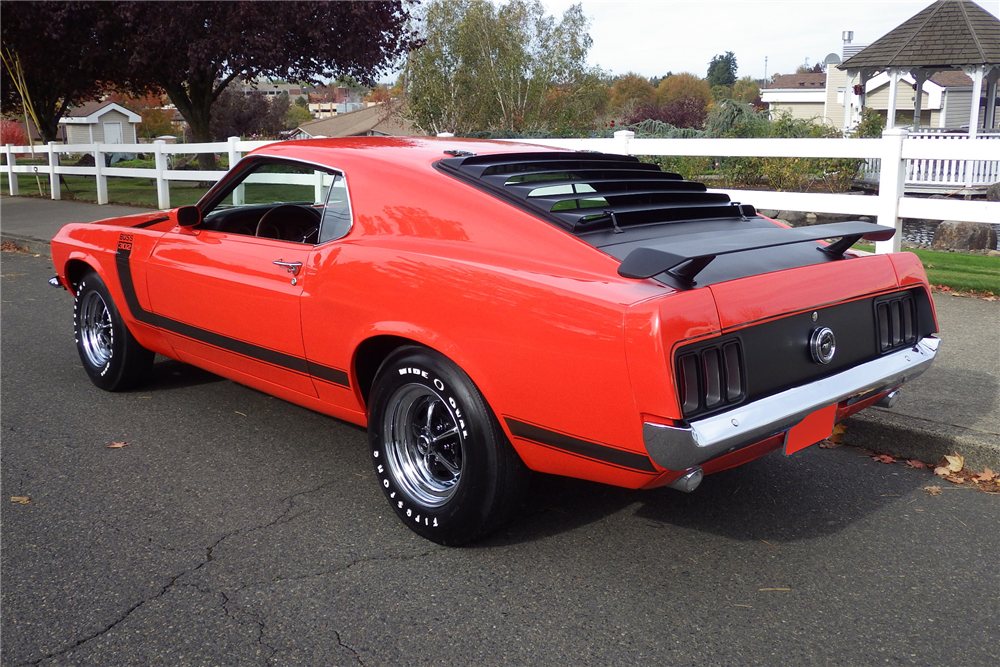 1970 FORD MUSTANG BOSS 302 FASTBACK - Rear 3/4 - 189487