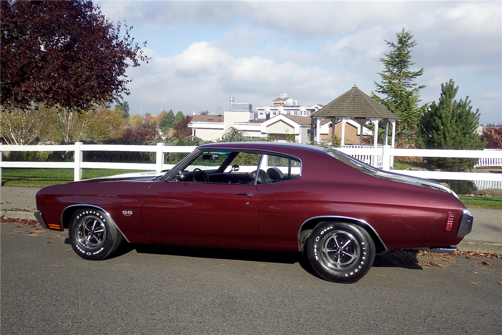 1970 CHEVROLET CHEVELLE SS 454  - Side Profile - 189488
