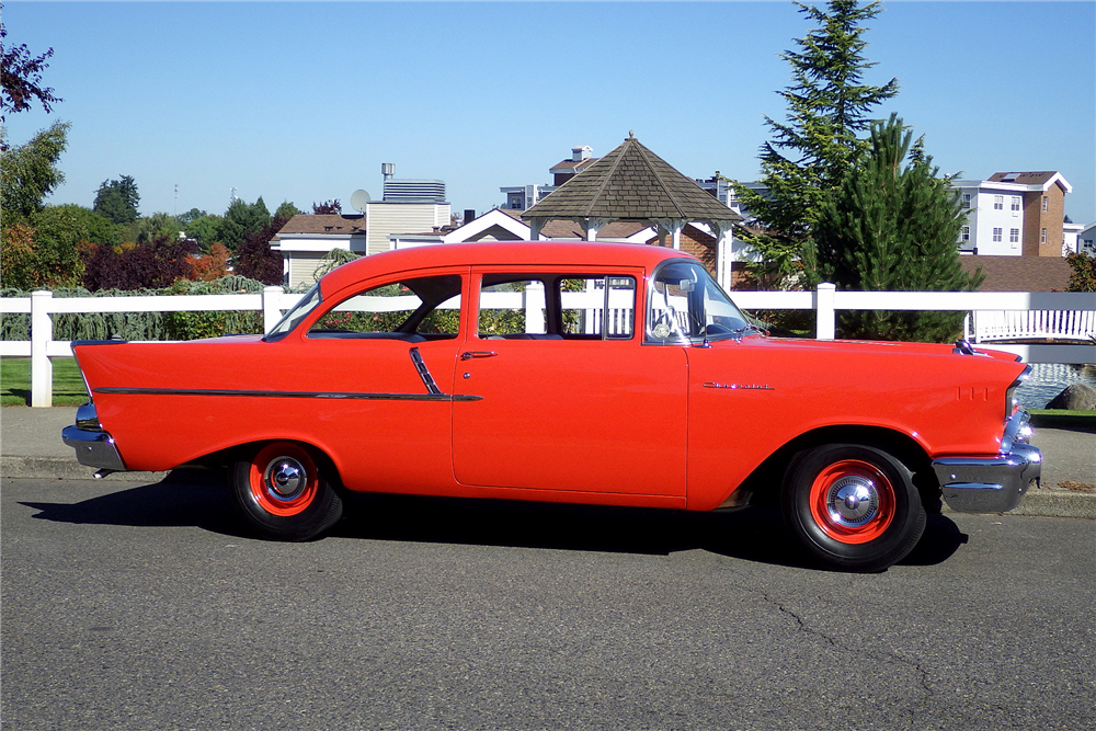 1957 CHEVROLET 150 - Side Profile - 189489