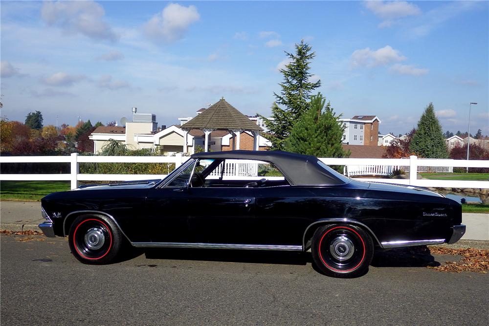 1966 CHEVROLET CHEVELLE SS 396 CONVERTIBLE - Side Profile - 189492