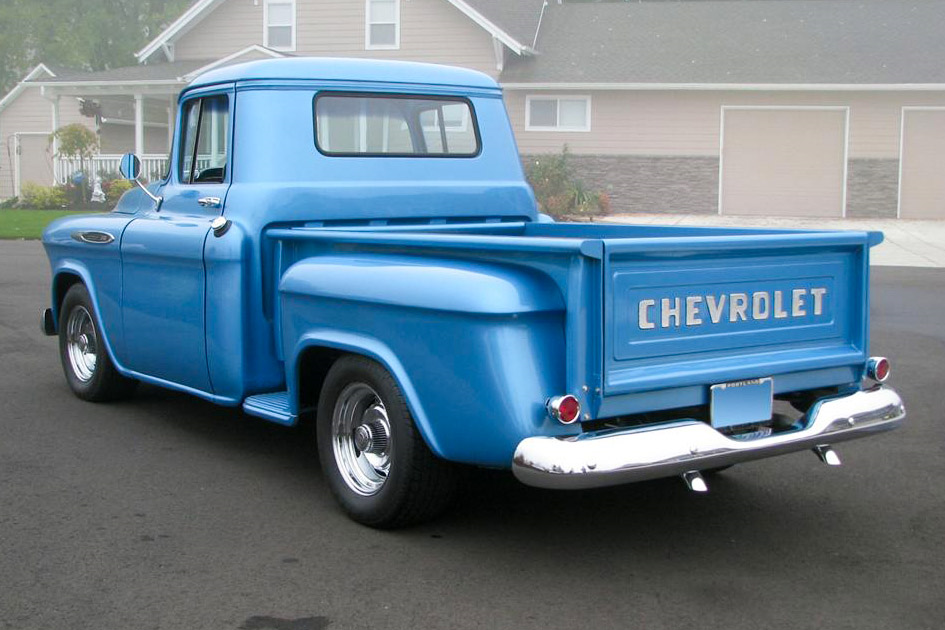 1957 CHEVROLET 3100 CUSTOM PICKUP - Rear 3/4 - 189535