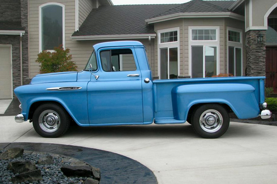 1957 CHEVROLET 3100 CUSTOM PICKUP - Side Profile - 189535
