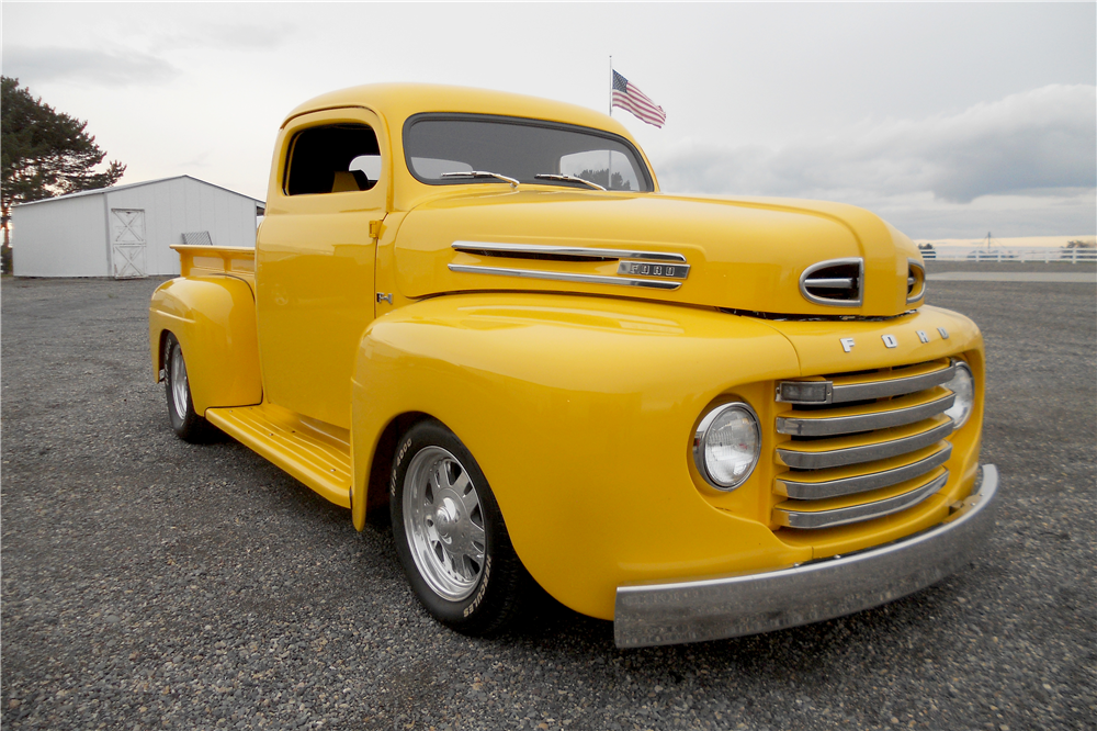 1950 FORD F-1 CUSTOM PICKUP - Front 3/4 - 189540
