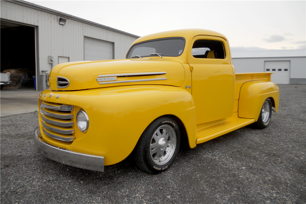 1950 FORD F-1 CUSTOM PICKUP - Side Profile - 189540