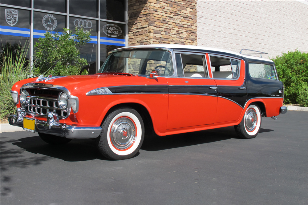 1956 NASH RAMBLER CROSS COUNTRY WAGON - Front 3/4 - 189546