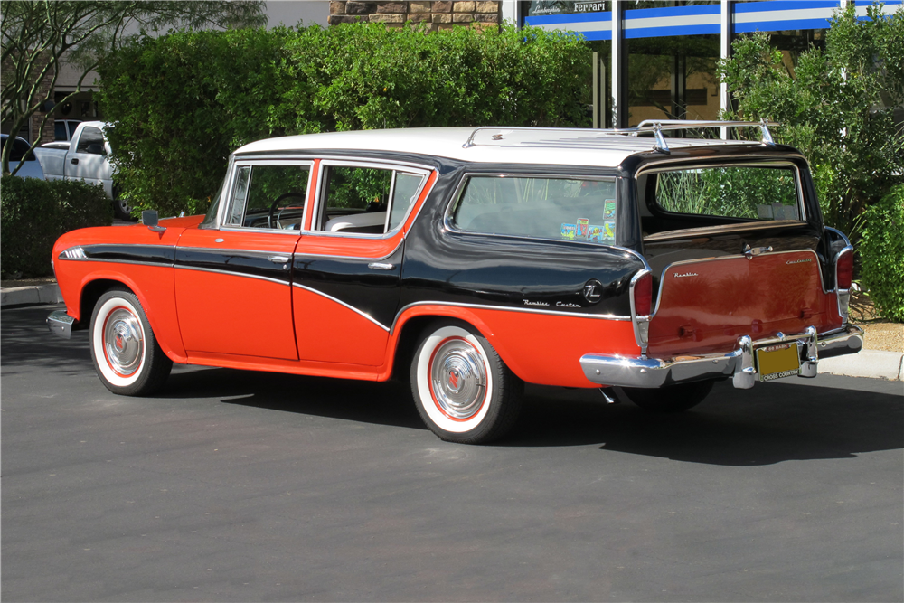 1956 NASH RAMBLER CROSS COUNTRY WAGON - Rear 3/4 - 189546