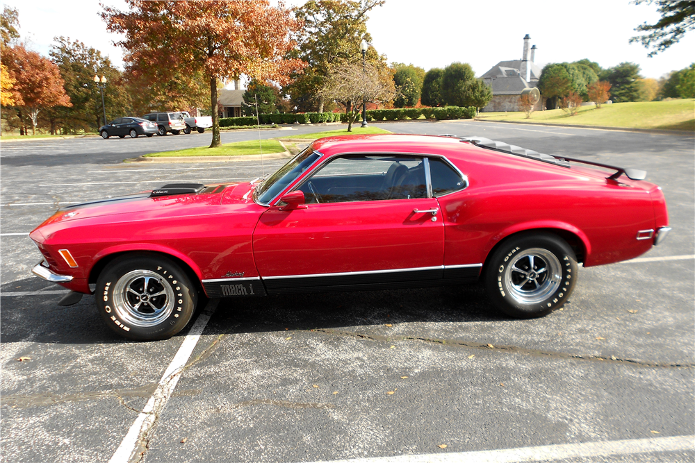 1970 FORD MUSTANG MACH 1 428 CJR FASTBACK - Side Profile - 189579
