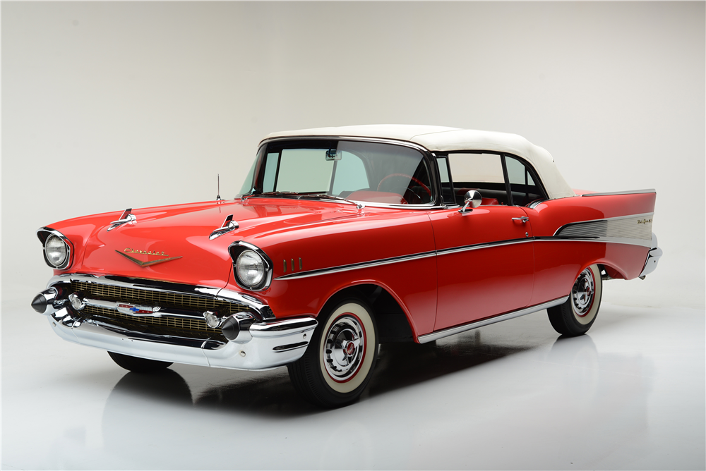 1957 CHEVROLET BEL AIR CONVERTIBLE - Front 3/4 - 189587
