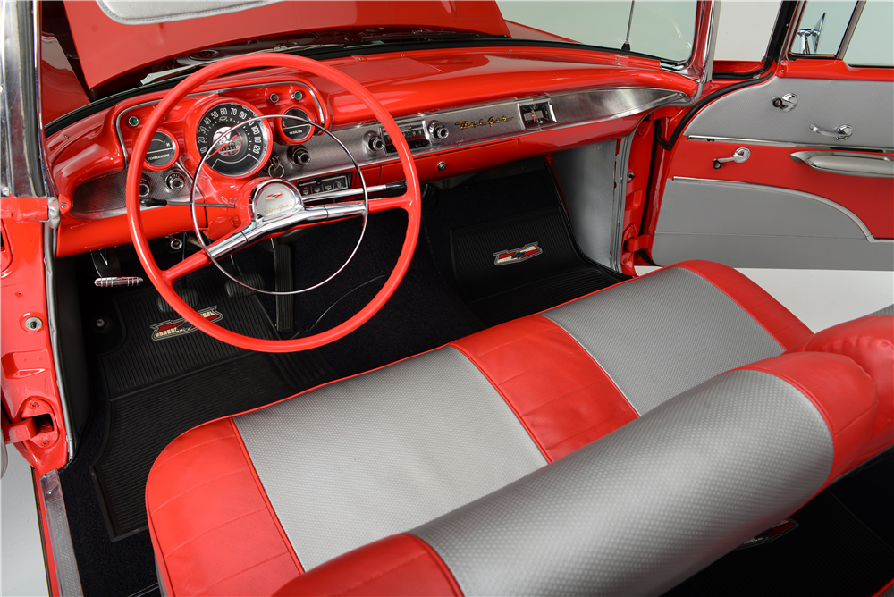 1957 CHEVROLET BEL AIR CONVERTIBLE - Interior - 189587