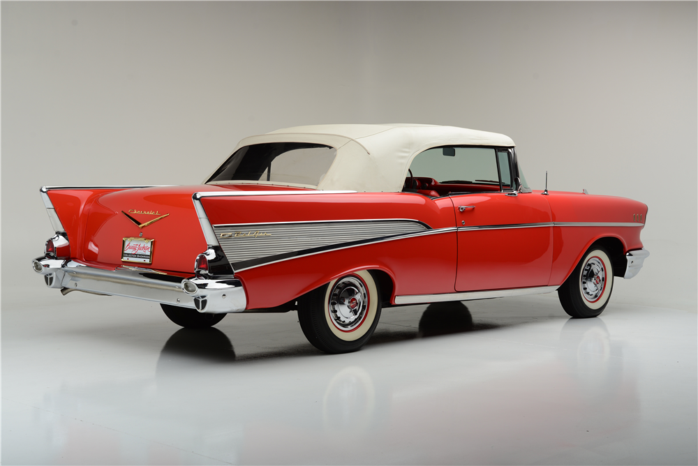 1957 CHEVROLET BEL AIR CONVERTIBLE - Rear 3/4 - 189587