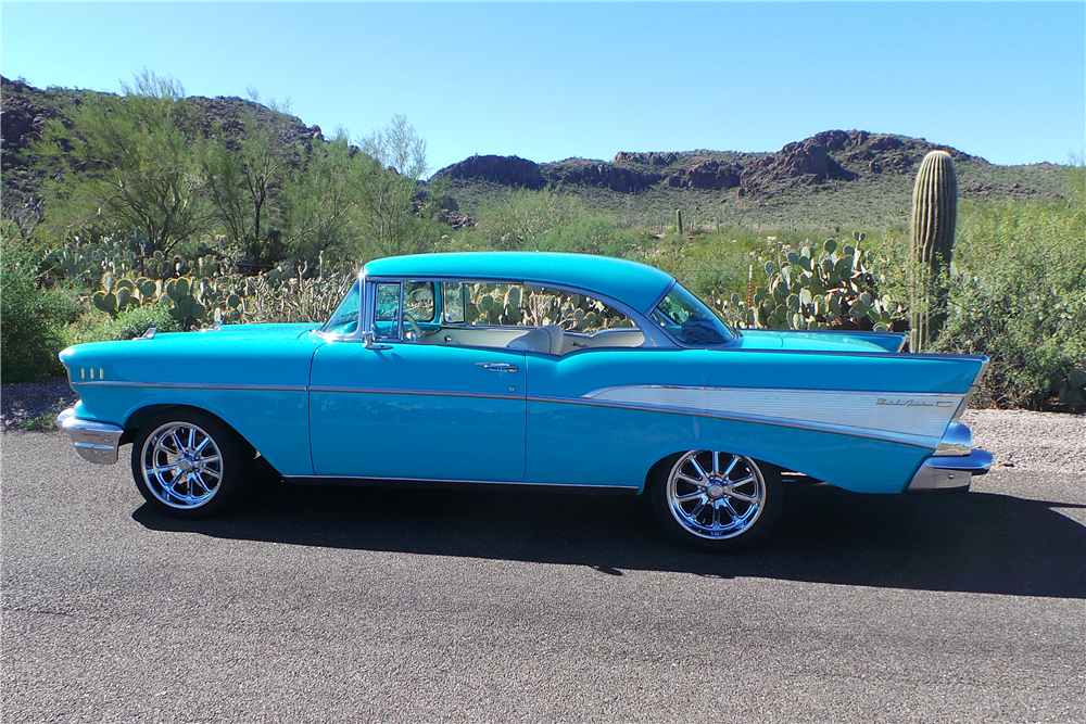 1957 CHEVROLET BEL AIR CUSTOM HARDTOP - Side Profile - 189589