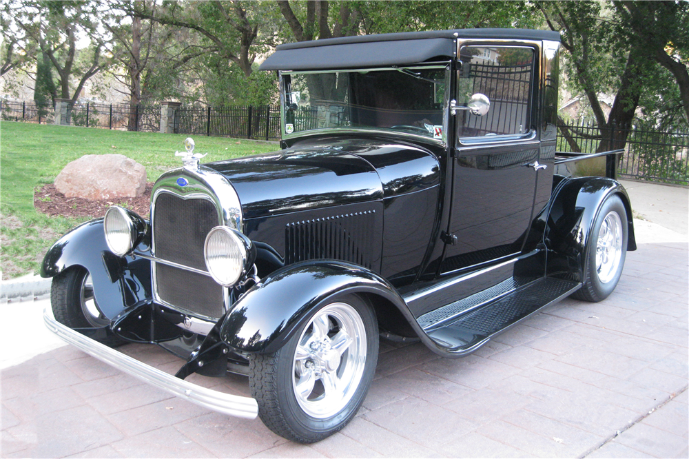 1928 FORD MODEL A CUSTOM PICKUP - Front 3/4 - 189626