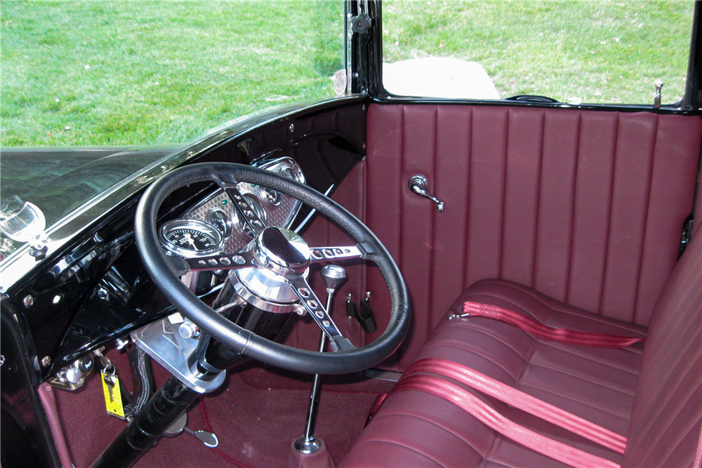 1928 FORD MODEL A CUSTOM PICKUP - Interior - 189626