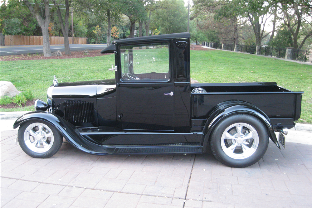 1928 FORD MODEL A CUSTOM PICKUP - Side Profile - 189626