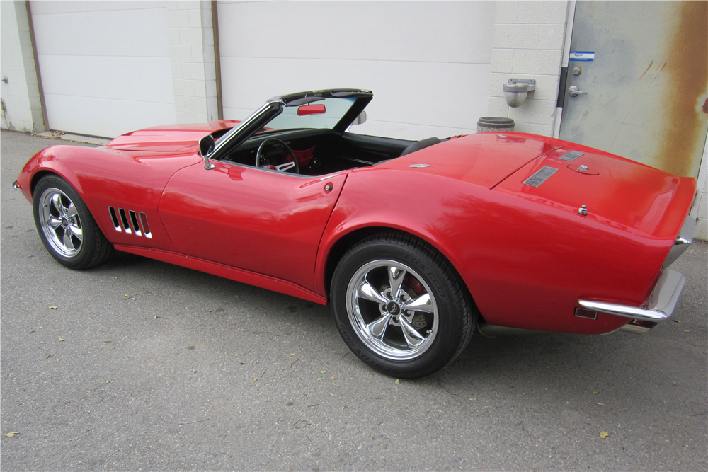 1968 CHEVROLET CORVETTE CONVERTIBLE - Rear 3/4 - 189631
