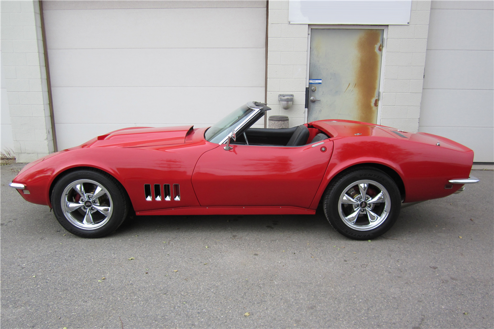 1968 CHEVROLET CORVETTE CONVERTIBLE - Side Profile - 189631
