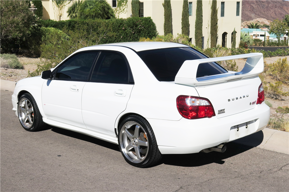 2004 SUBARU WRX STI CUSTOM SEDAN - Rear 3/4 - 189663