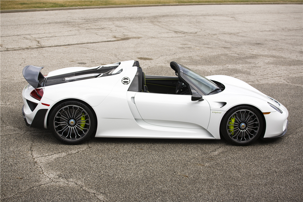 2015 porsche 918 spyder weissach side profile 189676