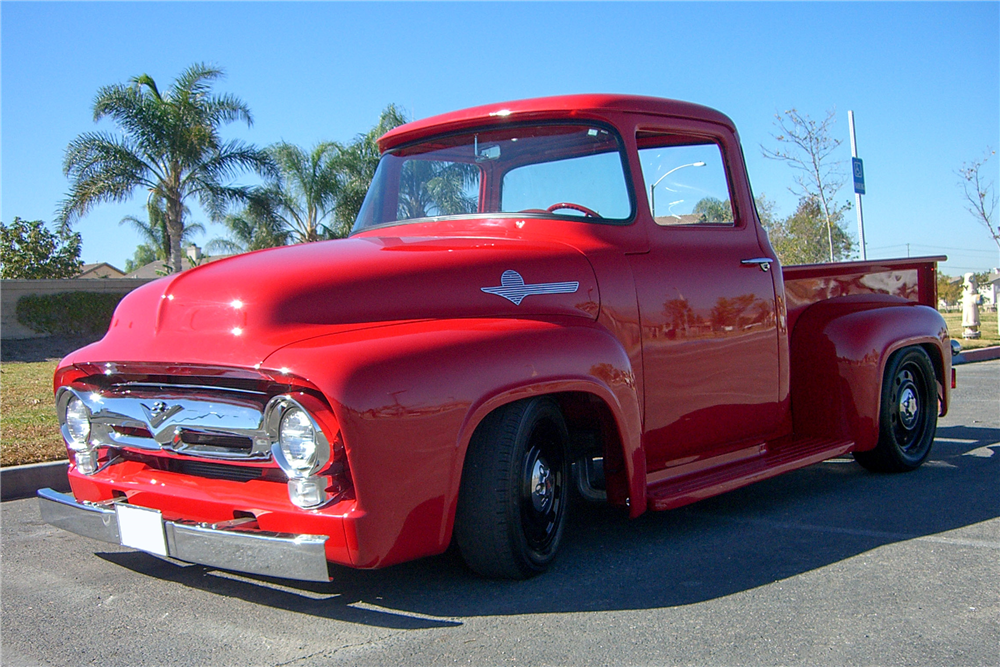 1956 FORD F-100 CUSTOM PICKUP - Front 3/4 - 189681