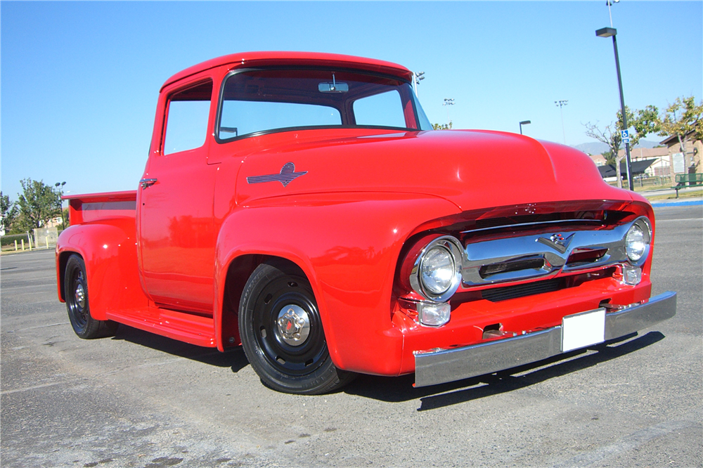 1956 FORD F-100 CUSTOM PICKUP - Side Profile - 189681