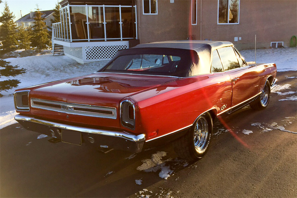 1969 PLYMOUTH GTX CONVERTIBLE - Rear 3/4 - 189699