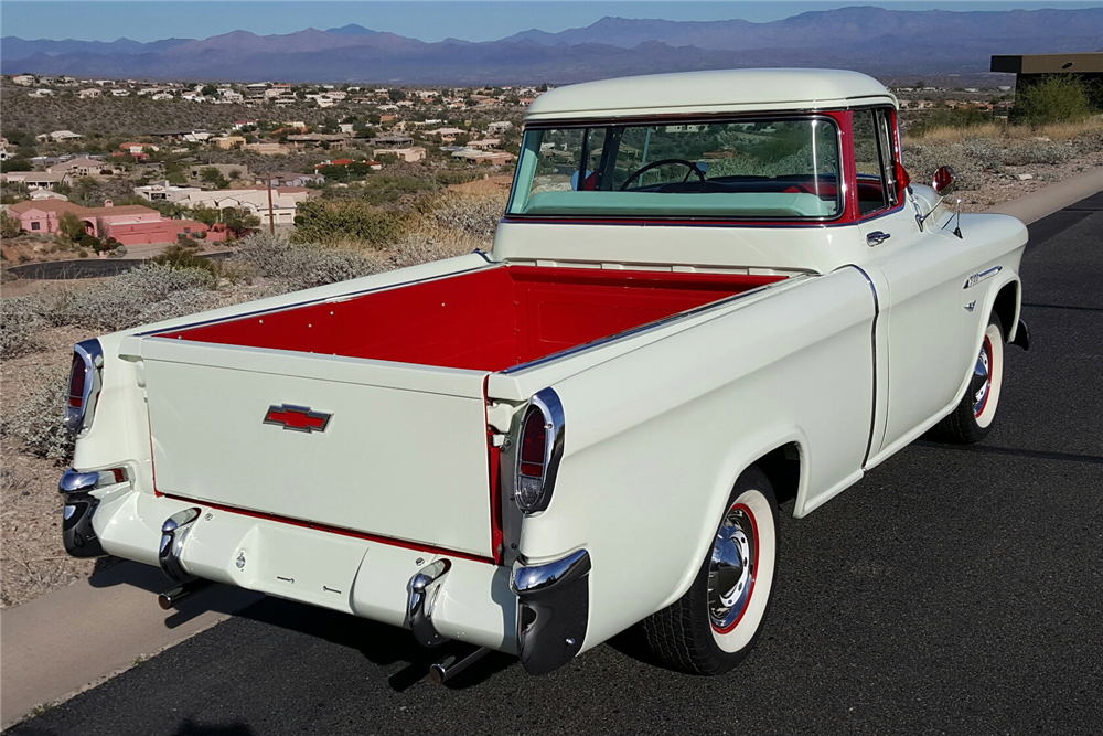 1955 CHEVROLET CAMEO PICKUP - Rear 3/4 - 189723
