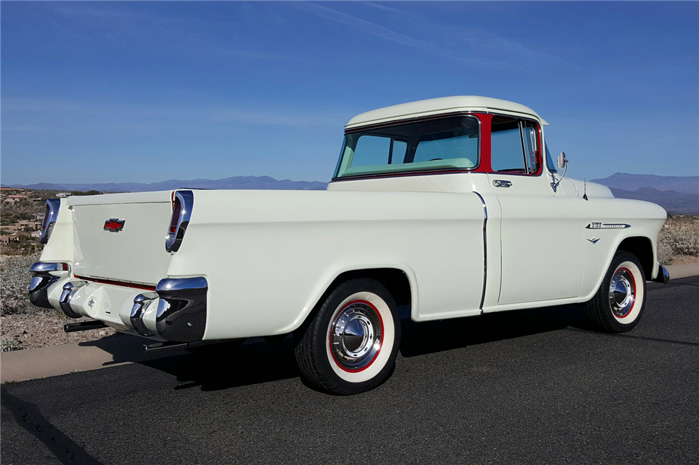 1955 CHEVROLET CAMEO PICKUP - Side Profile - 189723