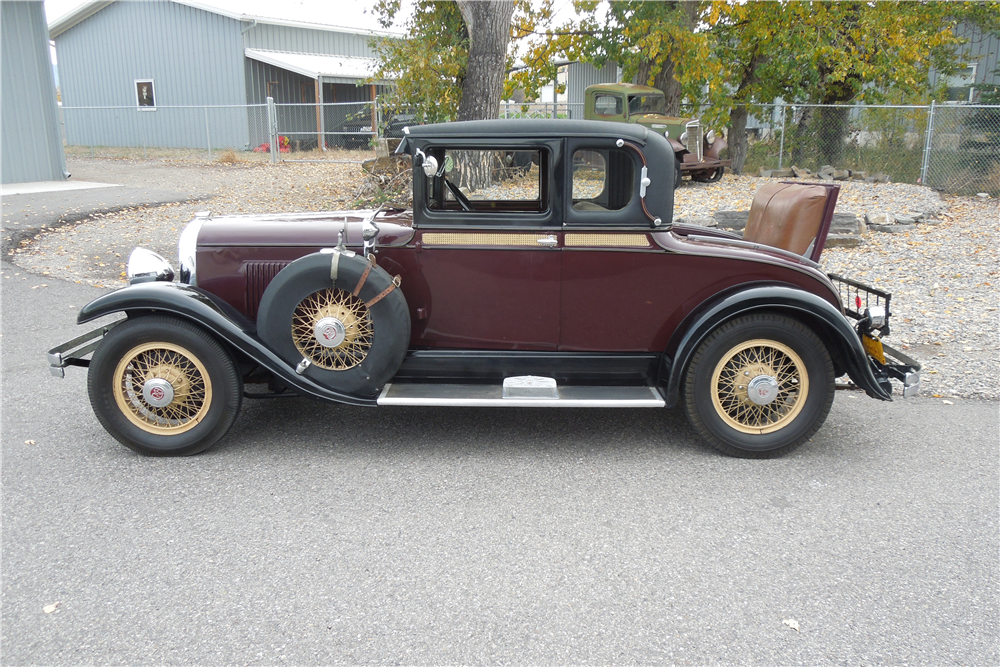 1929 REO FLYING CLOUD CUSTOM COUPE - Side Profile - 189734