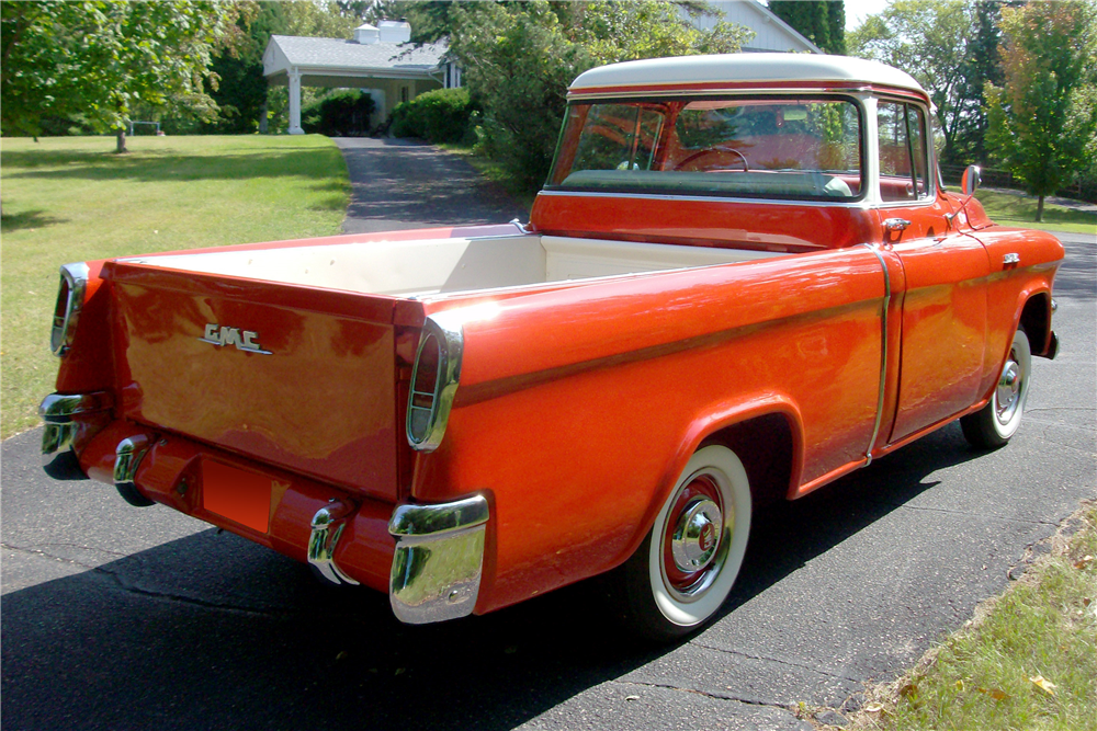 1956 GMC SUBURBAN CARRIER PICKUP - Rear 3/4 - 189744