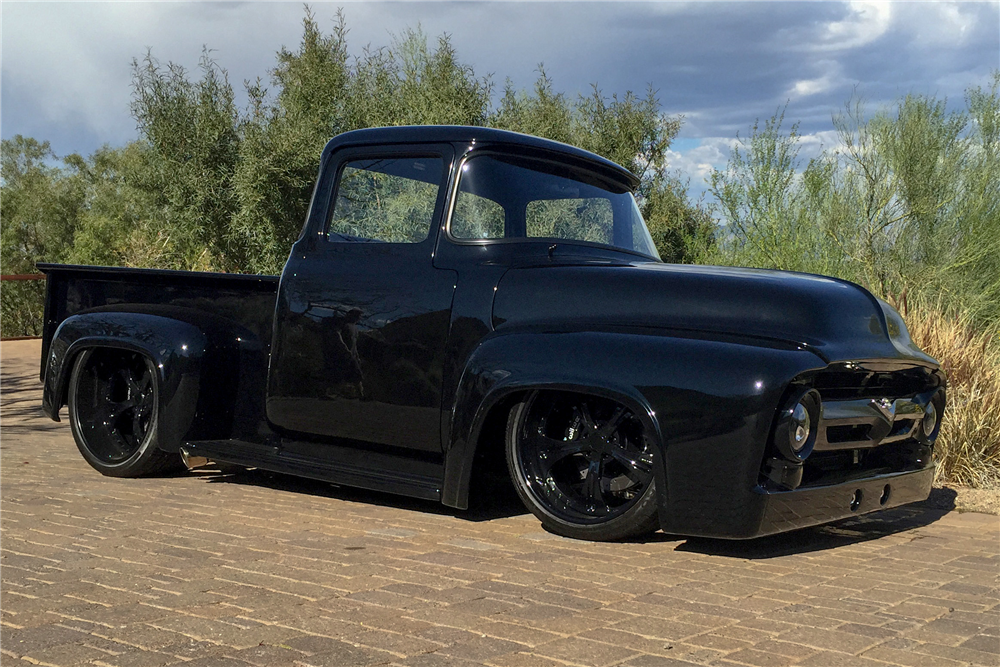 1956 FORD F-100 CUSTOM PICKUP - Front 3/4 - 189746